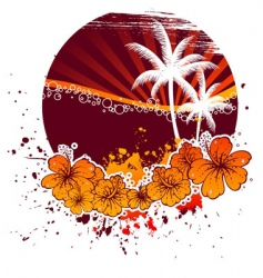 blot tropic vector image