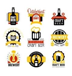 Craft Beer Set Of Logo Design Templates vector image vector image