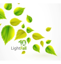 fall abstract flying leaves background vector image