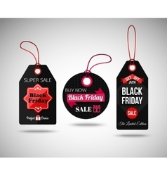 Black Friday Sale paper tags Isolated labels vector image vector image