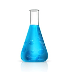 Laboratory flask vector image vector image