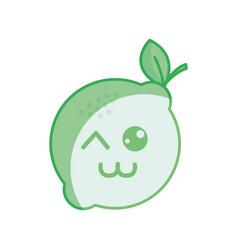 Silhouette kawaii nice funny lemon icon vector