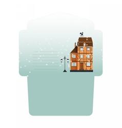 Winter envelope layout vector image