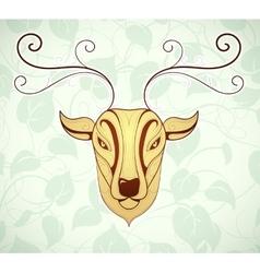 Artistic deer cartoon design vector image vector image