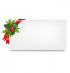 Christmas gift tag vector image vector image