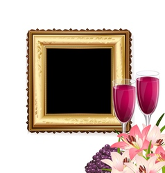 fruit wine and frame vector image vector image