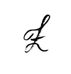 hand painted letter z dry brush modern lettering vector image