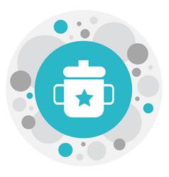 of baby symbol on mug icon vector image vector image