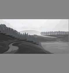 retro rural landscapes set in rural landscapes vector image vector image
