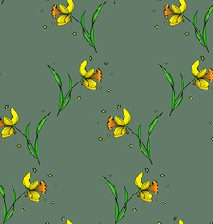 Seamless Daffodil pattern2 vector image