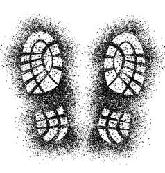 spray shoe imprints vector image vector image