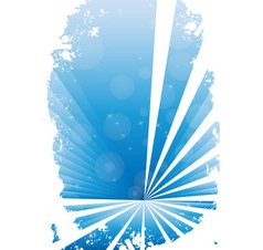 Blue grunge banner with white background vector image vector image