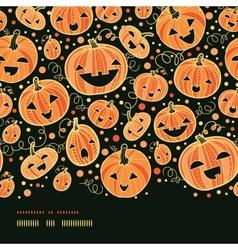 Halloween pumpkins horizontal border seamless vector image vector image