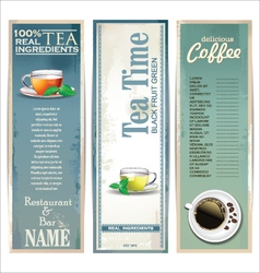 Menu for restaurant cafe bar coffeehouse tea house vector image vector image