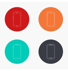 modern smartphone colorful icons set vector image vector image