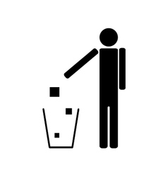 People throwing trash ecology vector
