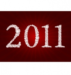 vector diamond 2011 year vector image vector image
