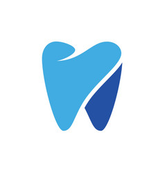 abstract tooth logo image vector image