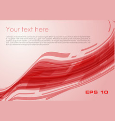 abstract wave rectangle background in red color vector image