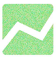 analytics chart mosaic of dots vector image