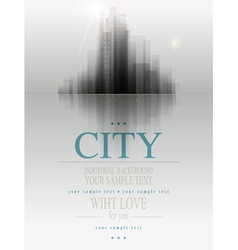 banner for business with the city and reflection vector image