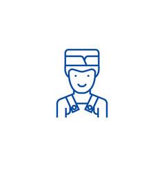 barman line icon concept barman flat vector image