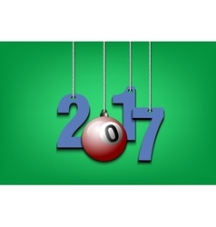 Billiard ball and 2017 hanging on strings vector