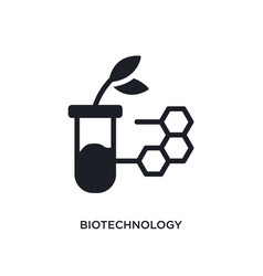 Biotechnology isolated icon simple element from vector