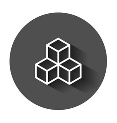 Blockchain technology icon in flat style vector