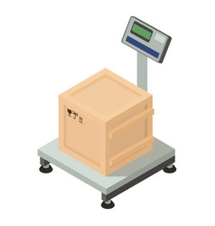 box on scales icon isometric style vector image
