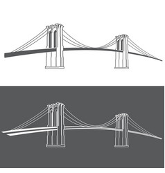 brooklyn grey2 vector image