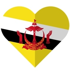 Brunei flat heart flag vector