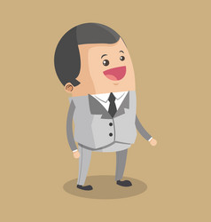 Businessman smiling cartoon vector
