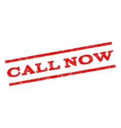 Call Now Watermark Stamp vector