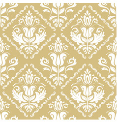 classic seamless golden and white pattern vector image