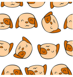 Cute dog hand draw pattern vector