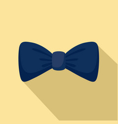 dark blue bow tie icon flat style vector image