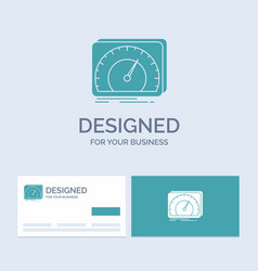 Dashboard device speed test internet business vector