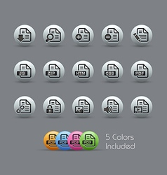 Document Icons 1 Pearly Series vector image