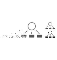 dust pixel halftone hierarchy icon vector image