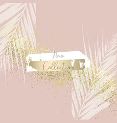 elegant luxury nude rose pink blush and gold vector image
