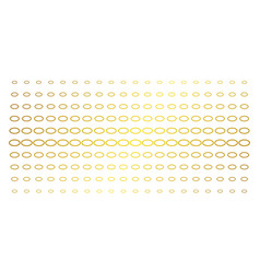 Ellipse bubble gold halftone array vector