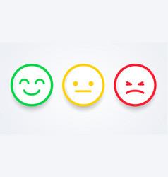 emoji user experience feedback concept vector image
