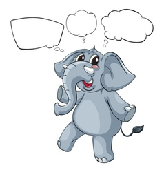 Empty thoughts of a gray elephant vector image vector image
