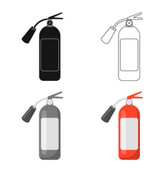fire extinguisher icon cartoon single silhouette vector image