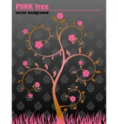 floral tree background vector image
