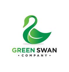 Goose leaf logo design vector