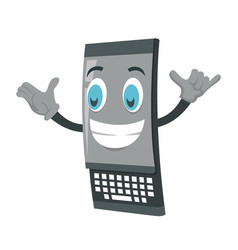 happy black phone masco vector image