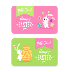 happy ester gift cards design vector image