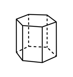 Hexagonal prism geometric figure geometry dash vector
